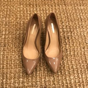 BCBGeneration Tan Patent Leather Heels